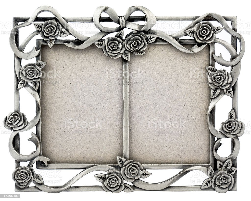 Retro Old Silver Frame royalty-free stock photo