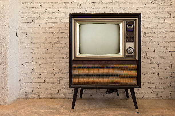 retro old television - 1960s style stock photos and pictures