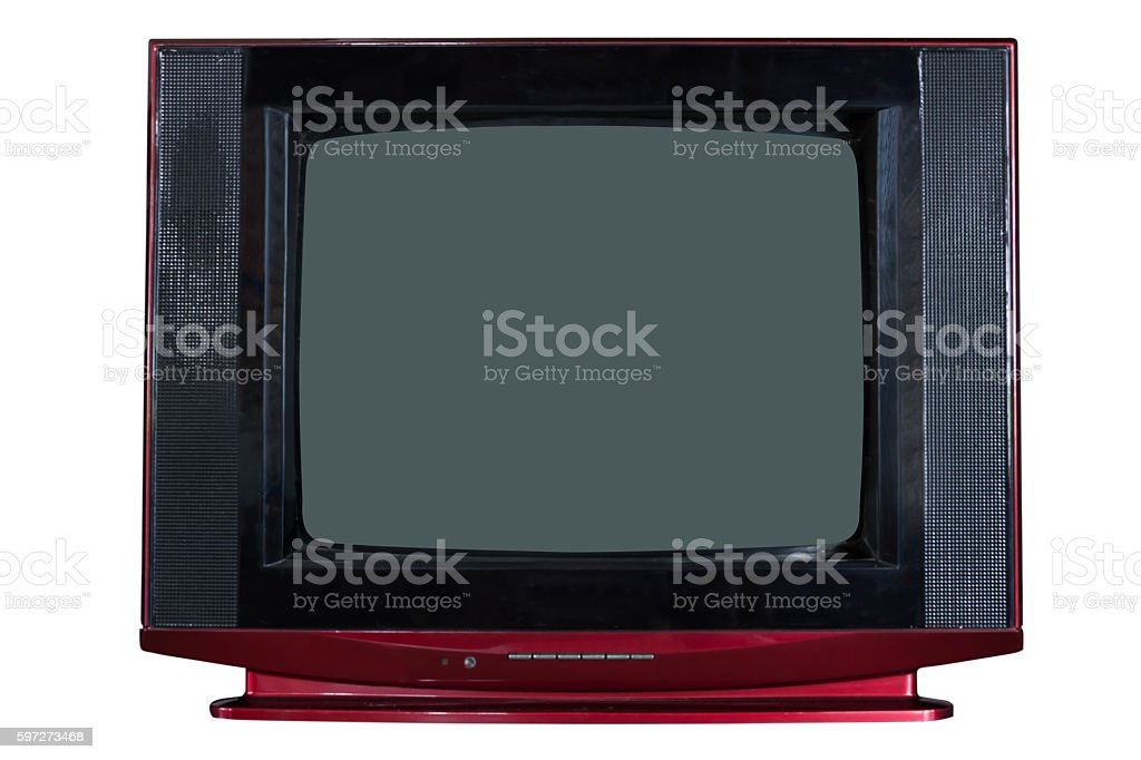 retro old television royalty-free stock photo