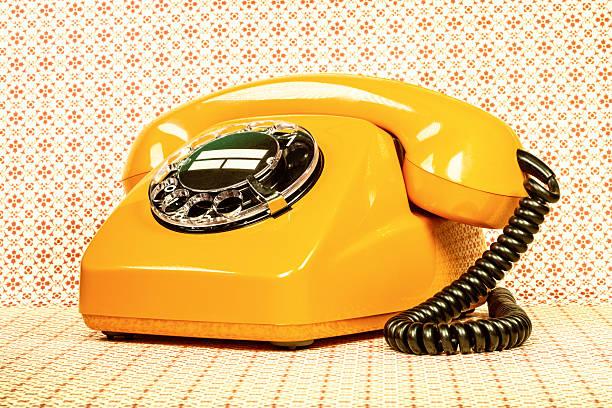 Retro-orange Telefon – Foto