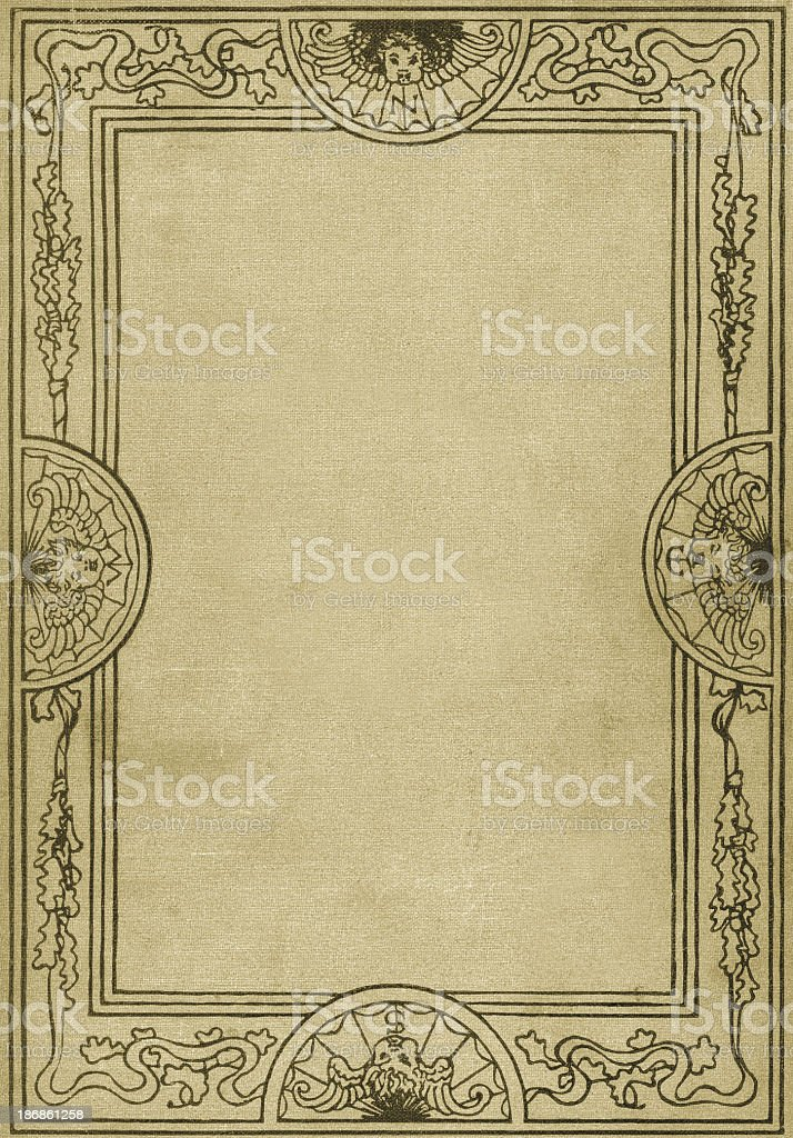 Retro Ornate Border Pattern stock photo