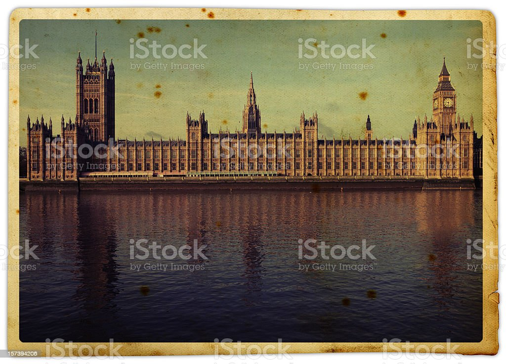 Retro Parliament royalty-free stock photo