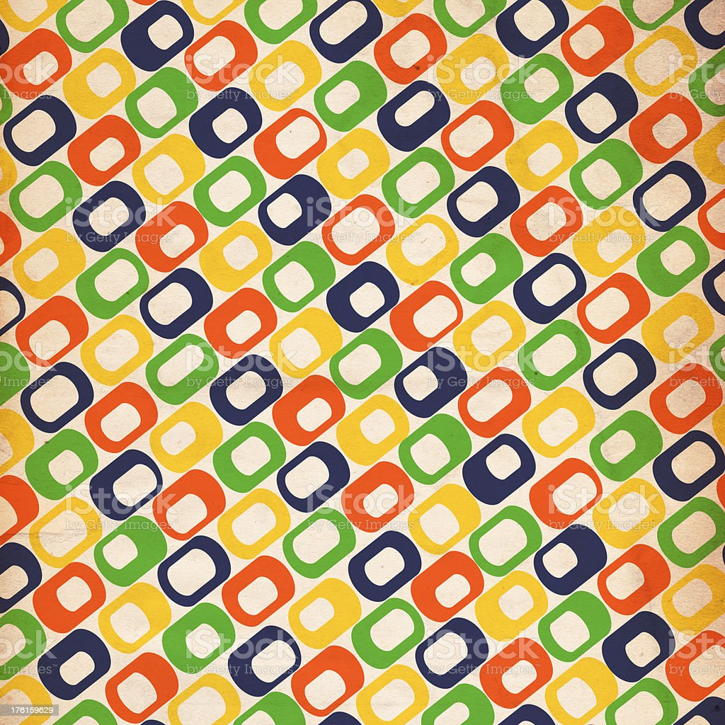 Retro Patterned Paper royalty-free stock photo
