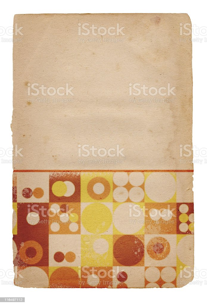 Retro Patterned Paper XXXL royalty-free stock photo