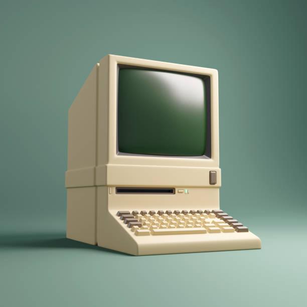 Retro Personal Desktop Computer stock photo