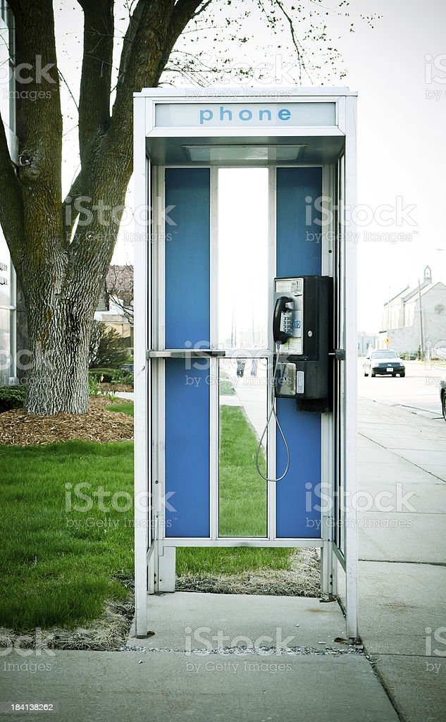 retro phone booth stock photo