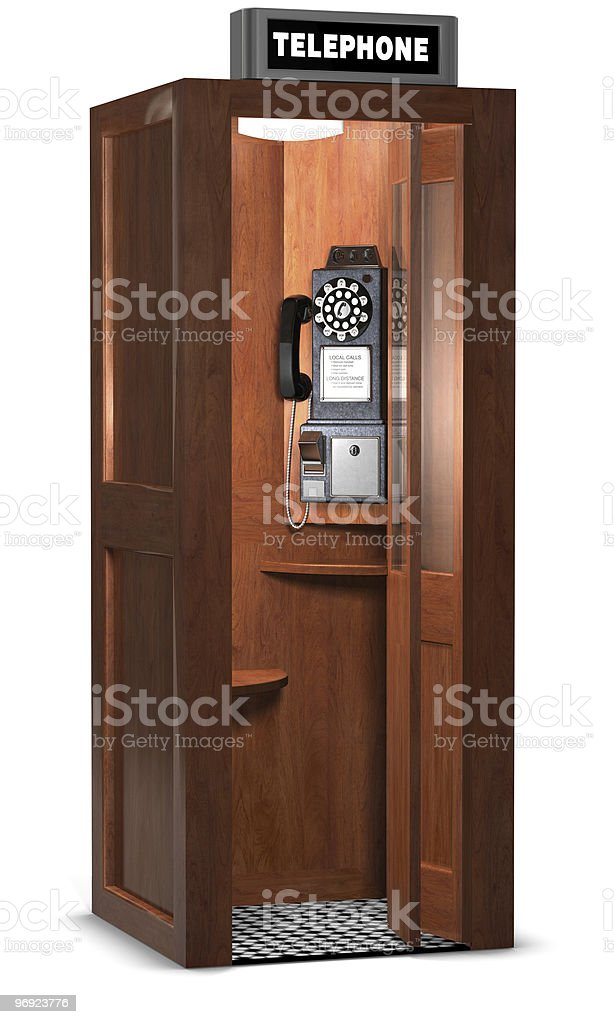 Retro Phone Booth royalty-free stock photo