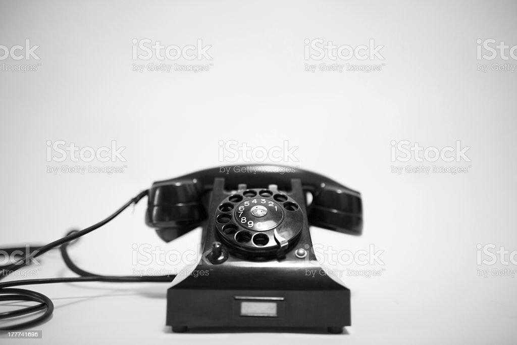 Retro phone royalty-free stock photo