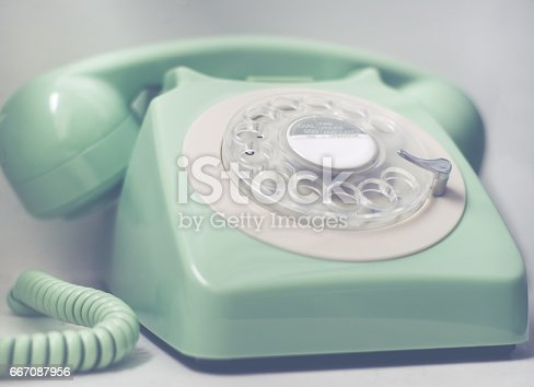 istock Retro Phone With Emergency Services Numbers 667087956
