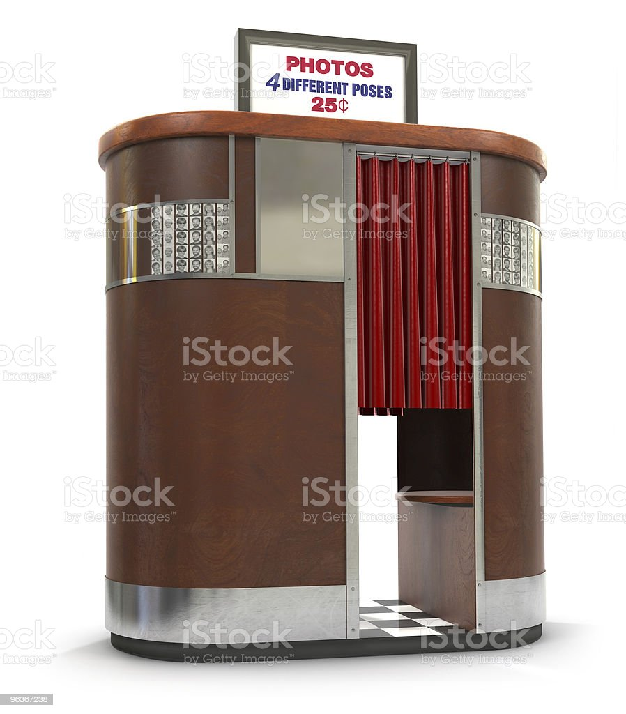 Retro Photo Booth Machine stock photo