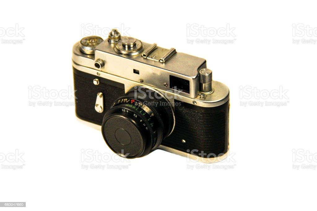 Retro photo camera isolated on the white background foto de stock royalty-free