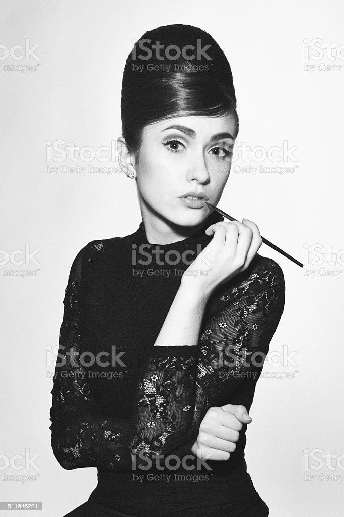 retro photo of fashionable style icon stock photo