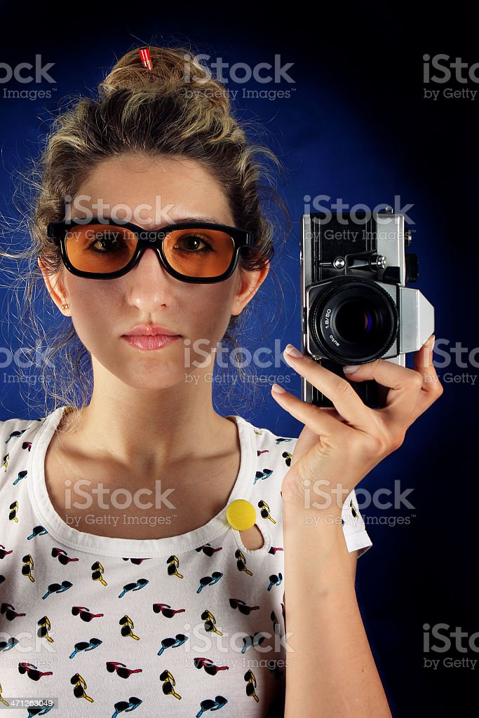 Retro Photographer royalty-free stock photo