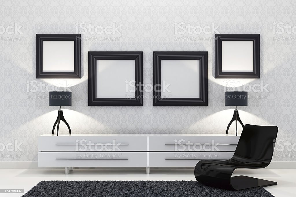 Retro Pictures Wall royalty-free stock photo