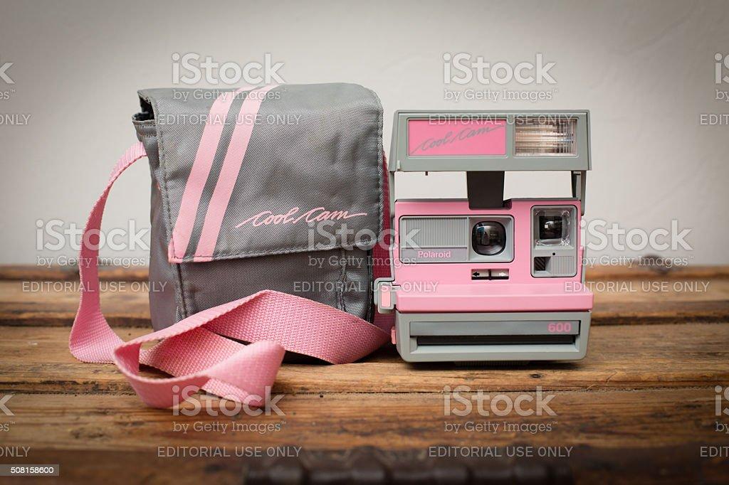Retrorosa Polaroid 600 Cool Cam Augenblick Film Kamera Stockfoto Und Mehr Bilder Von 1980 1989