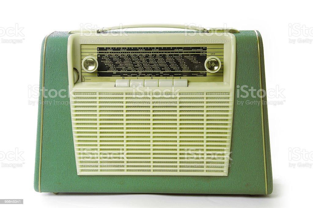 Retro portable radio stock photo
