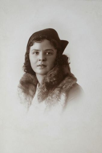 Retro portrait of my deceased grandmother.