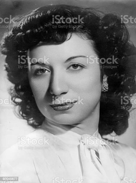 Retro portrait of spanish woman