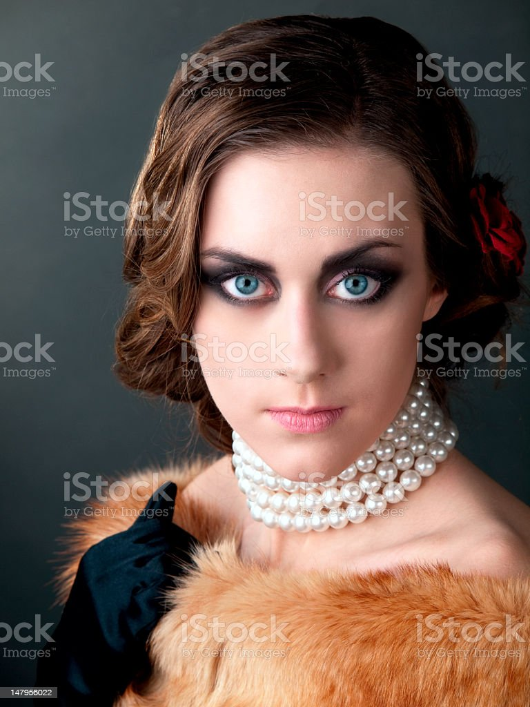Retro portrait. royalty-free stock photo
