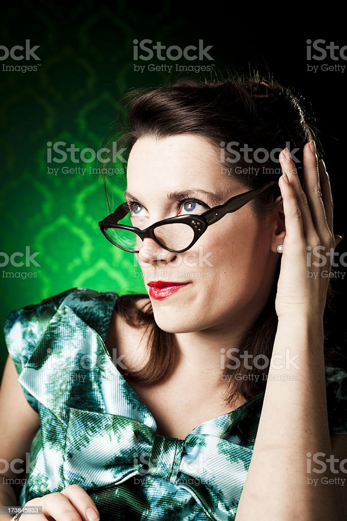 Retro portrait royalty-free stock photo