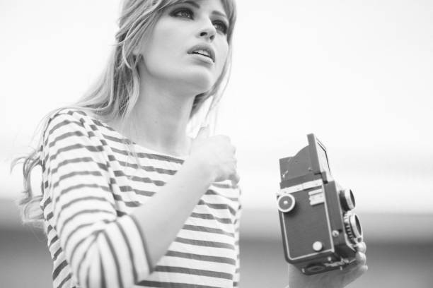 retro portrait - 1960s style stock photos and pictures