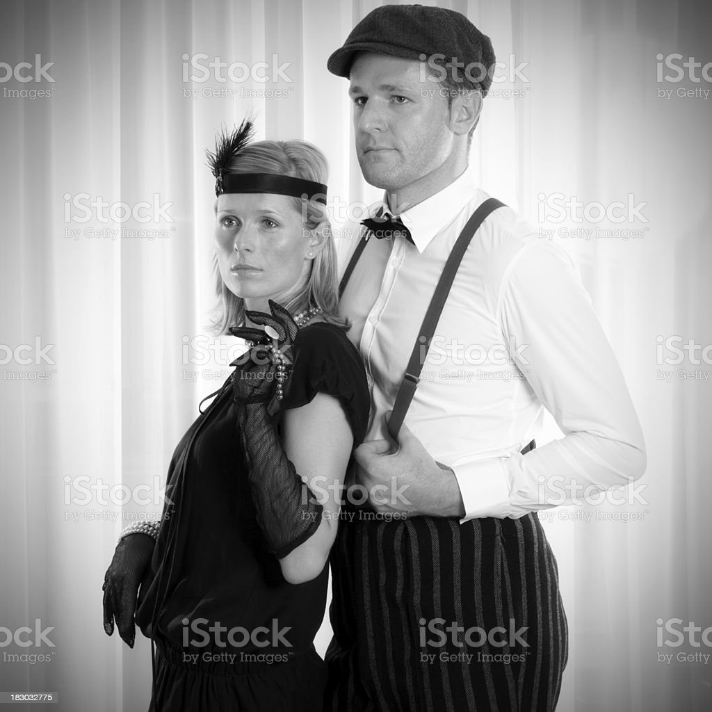 Retro posing royalty-free stock photo