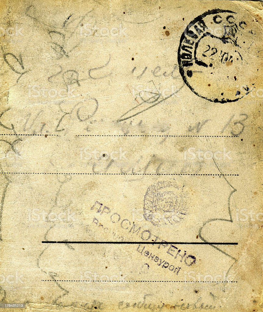 Retro postcard royalty-free stock photo