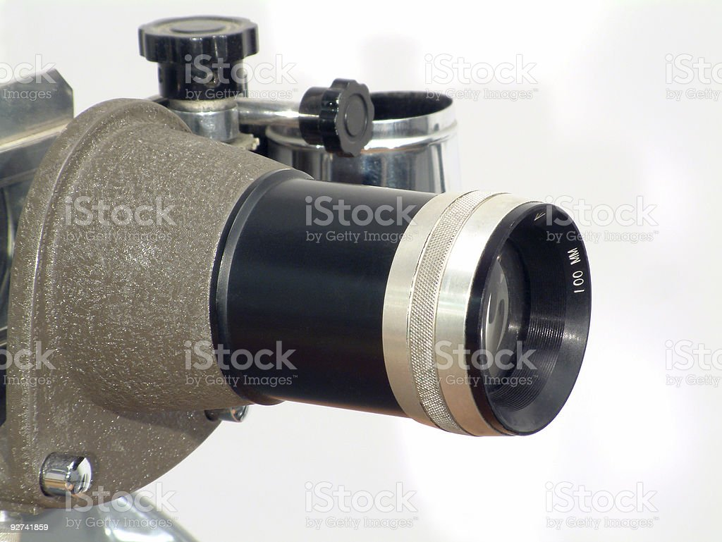 Retro Projector lens royalty-free stock photo