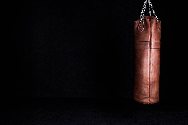 Retro Punching Bag Stock Photo