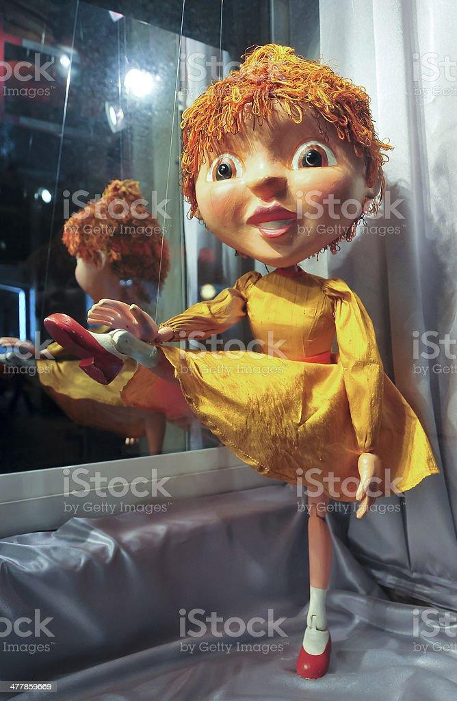 Retro Puppet stock photo