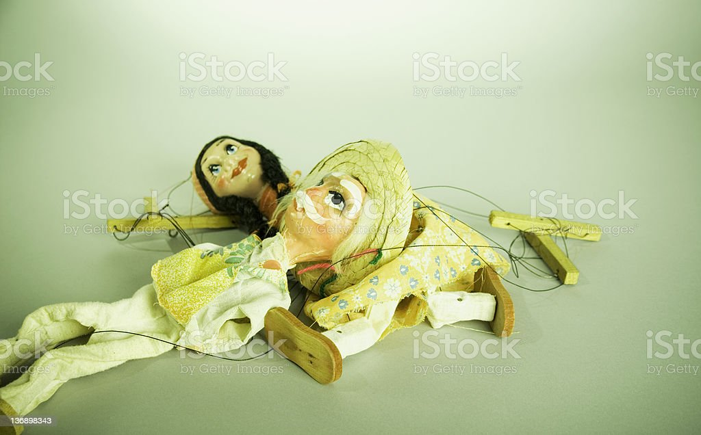 Retro Puppet Resting royalty-free stock photo