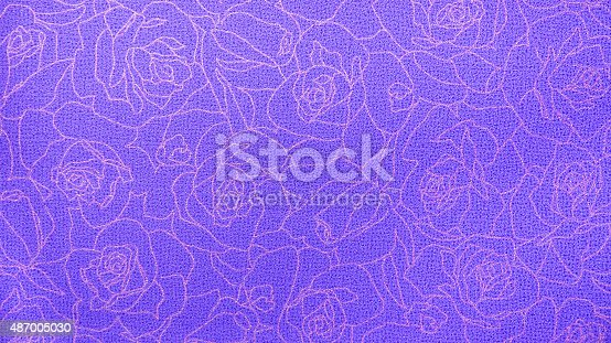 istock Retro Purple Blue Rose Lace Floral Seamless Pattern Fabric Background 487005030
