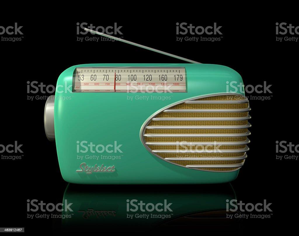 Retro Radio - 3D Render stock photo