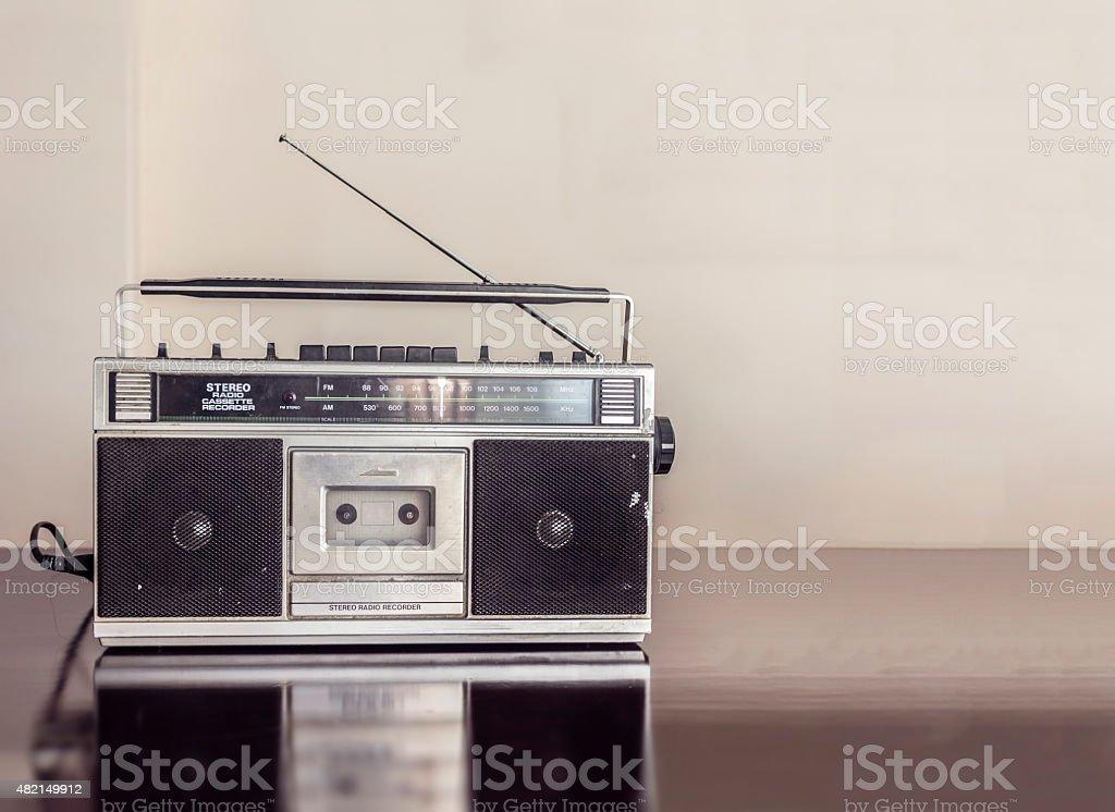 Retro Radio Cassette stock photo
