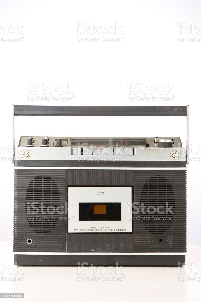 Retro Radio Cassette stock photo