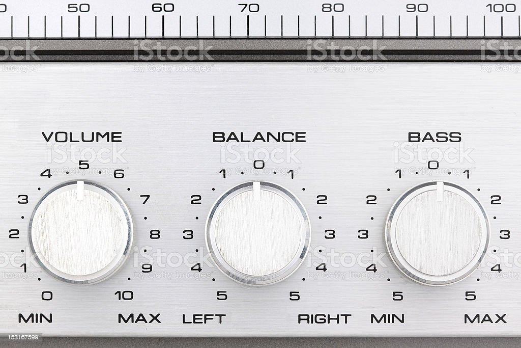 retro radio controll buttons stock photo