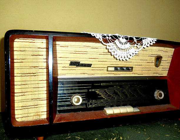 Retro radio from the 70s of the last century the old model of radio from the seventies of the twentieth century. early 20th century stock pictures, royalty-free photos & images