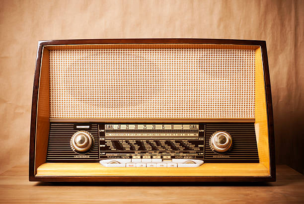 retro-funk - radio kultur stock-fotos und bilder