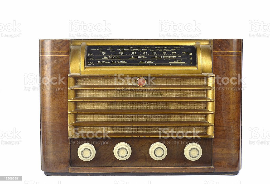 Retro radio royalty-free stock photo