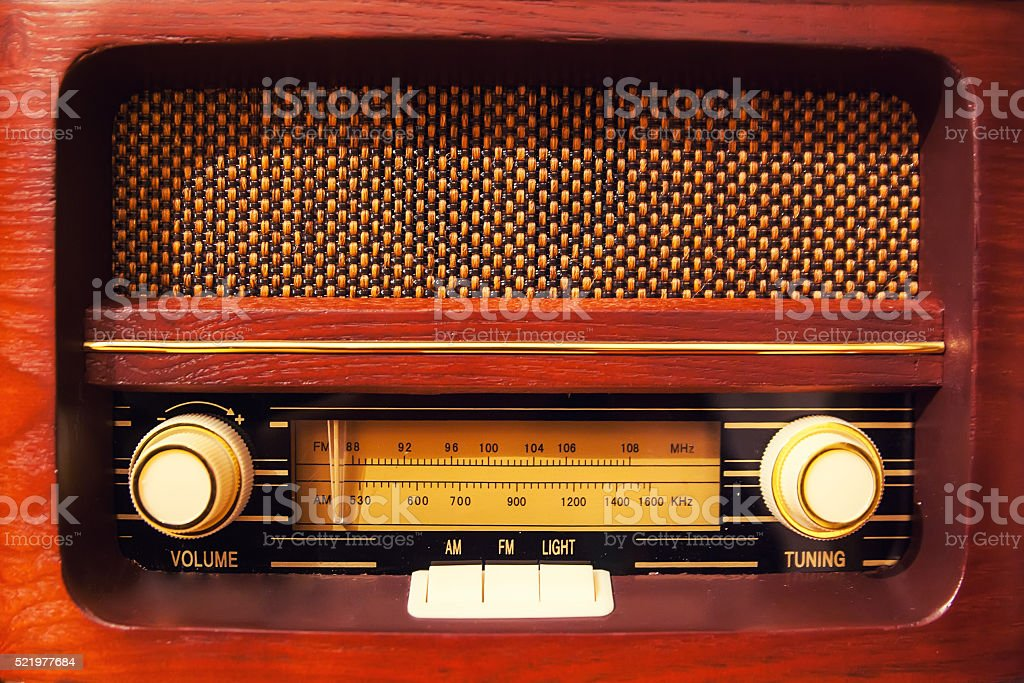 Retro radio stock photo
