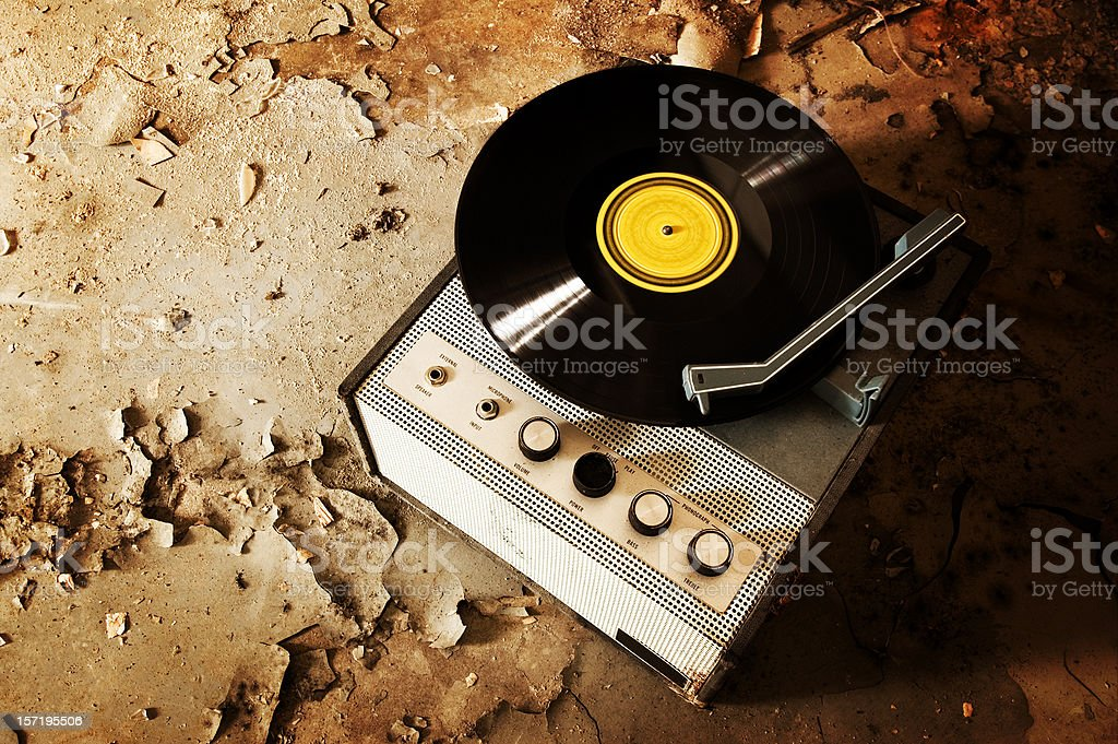 Retro Record Player royalty-free stock photo