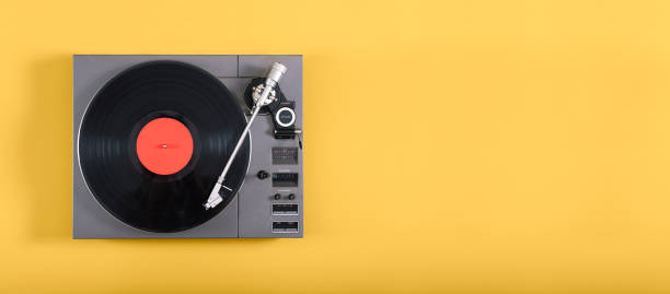 retro record player - records stock photos and pictures