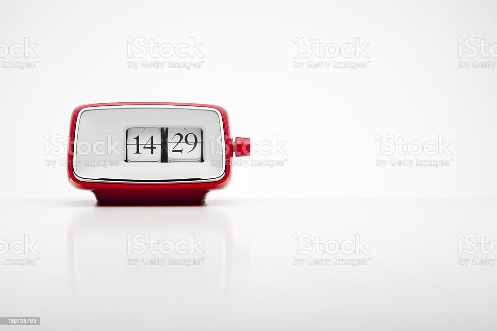 Rouge rétro radio-réveil avec connexion MP3 - Photo