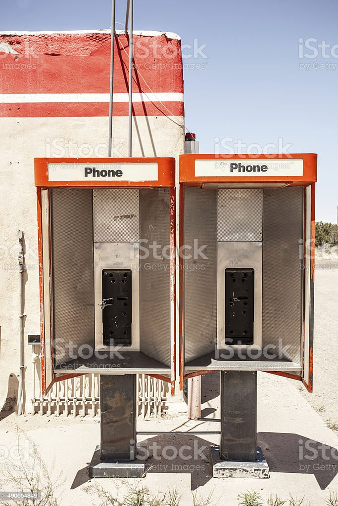 retro red communication stock photo