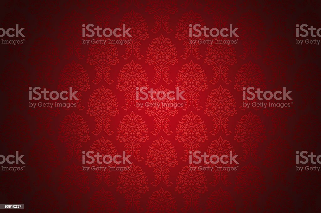 retro red luxury wallpaper royalty-free stock photo