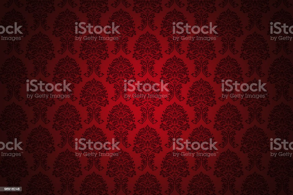 retro red luxury wallpaper royalty-free stock photo