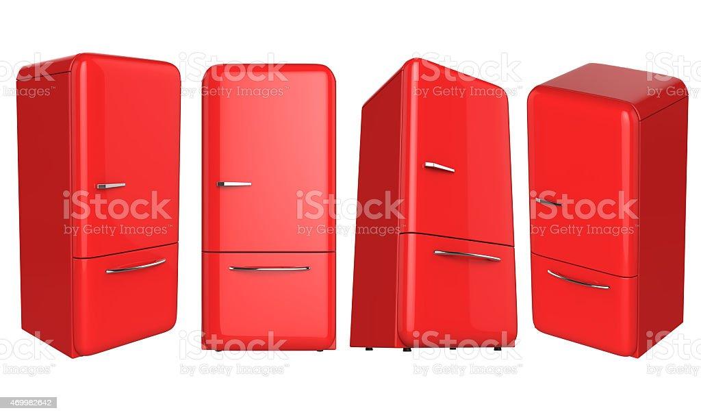 Kühlschrank Farbig Retro : Retrorot kühlschrank kühlschrank mit stock fotografie und mehr