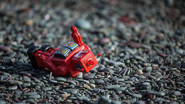 Rouge rétro robot baissé l'on the rocks - Photo