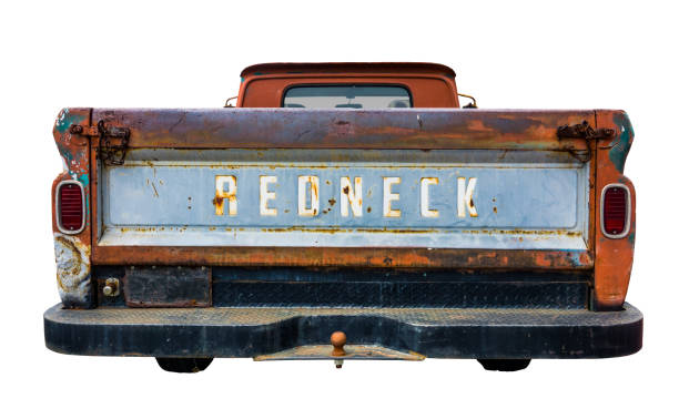 retro-redneck-lkw - alte wagen stock-fotos und bilder