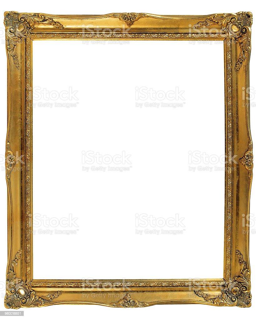 Retro Revival  Gold Frame royalty-free stock photo